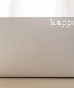 Kappa Kappa Gamma Typewriter decal laptop