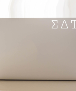 Sigma Delta Tau typewriter decal laptop