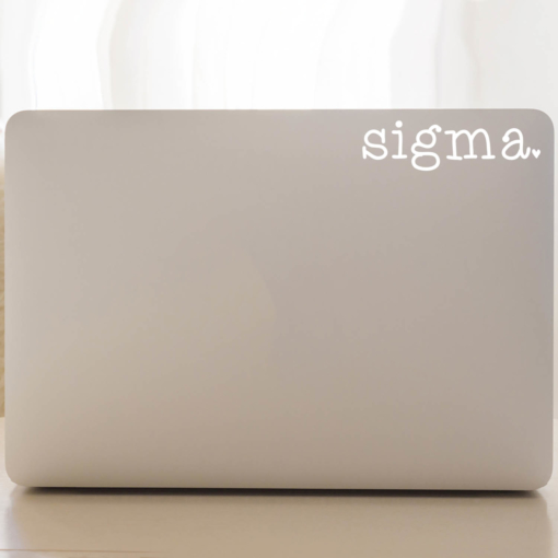 Sigma Sigma Sigma typewriter decal laptop