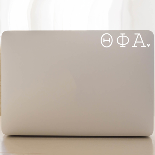 Theta Phi Alpha Typewriter Decal Laptop