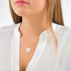 Large Alpha Phi Disc Charm Necklace by www.alistgreek.com