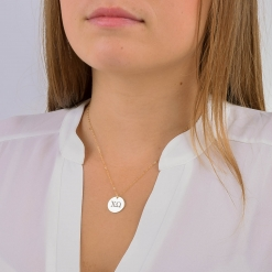 Chi Omega Large Disc Charm Necklace by www.alistgreek.com