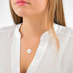 Delta Gamma Disc Charm Necklace by www.alistgreek.com