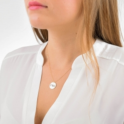 Large Gamma Phi Beta Disc Charm Necklace by www.alistgreek.com