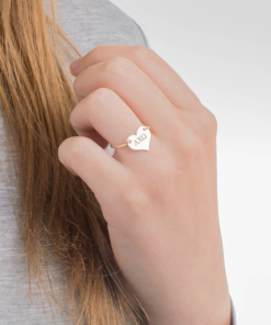 Alpha Chi Omega Sorority Heart Ring Gold by www.alistgreek.com