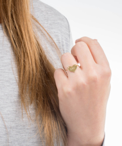 Gold Kappa Kappa Gamma Sorority Heart Ring by www.alistgreek.com