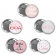 Theta Phi Alpha Pin Back Button Set