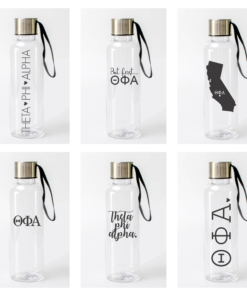 Theta Phi Alpha Water Bottles from www.alistgreek.com