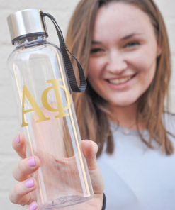 Alpha Phi Gold Greek Letters Water Bottle from www.alistgreek.com