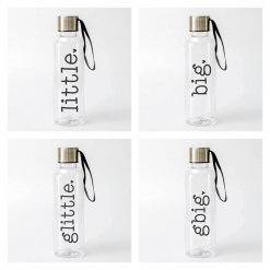 Big LIttle Family Water Bottles from www.alistgreek.com