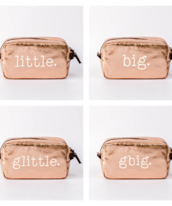 Big Little Fam Typewriter Cosmetic Bag Collage