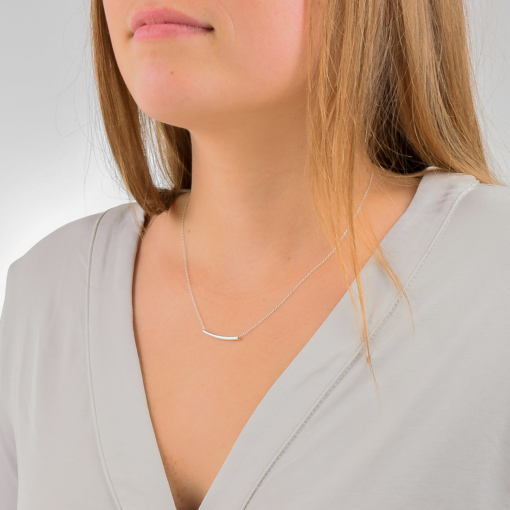 Sterling Silver Tube Necklace from www.alistgreek.com