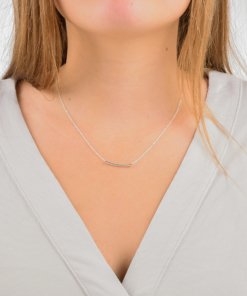 Delicate Tube Necklace from www.alistgreek.com