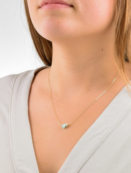 Dainty Turquoise Bar Necklace from www.alistgreek.com