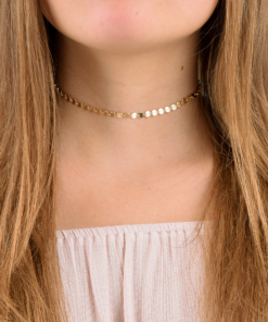 Gold Boho Coin Choker from www.alistgreek.com