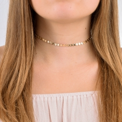 Gold Filled Coin Choker from www.alistgreek.com