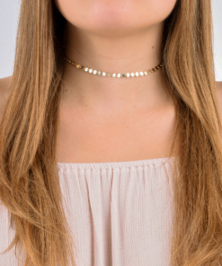 Gold Coin Choker from www.alistgreek.com
