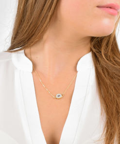 Gold Raw Quartz Necklace from www.alistgreek.com
