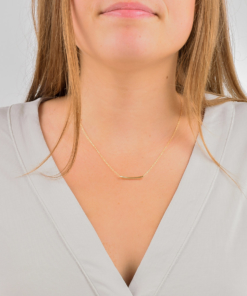 Dainty Gold Tube Necklace from www.alistgreek.com