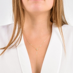 Delicate CZ Y Necklace from www.alistgreek.com