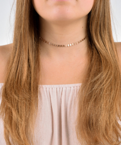 Rose Gold Filled Coin Choker from www.alistgreek.com