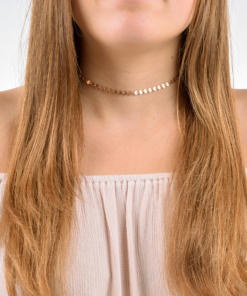 Rose Gold Boho Coin Choker from www.alistgreek.com