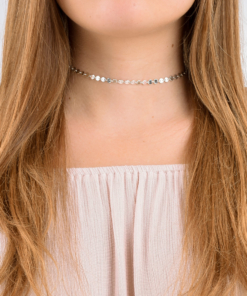 Sterling Silver Boho Coin Choker from www.alistgreek.com