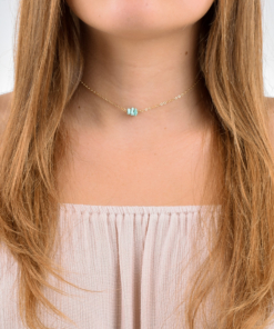 Gold Filled Turquoise Choker from www.alistgreek.com