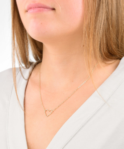 Gold Open Heart Necklace