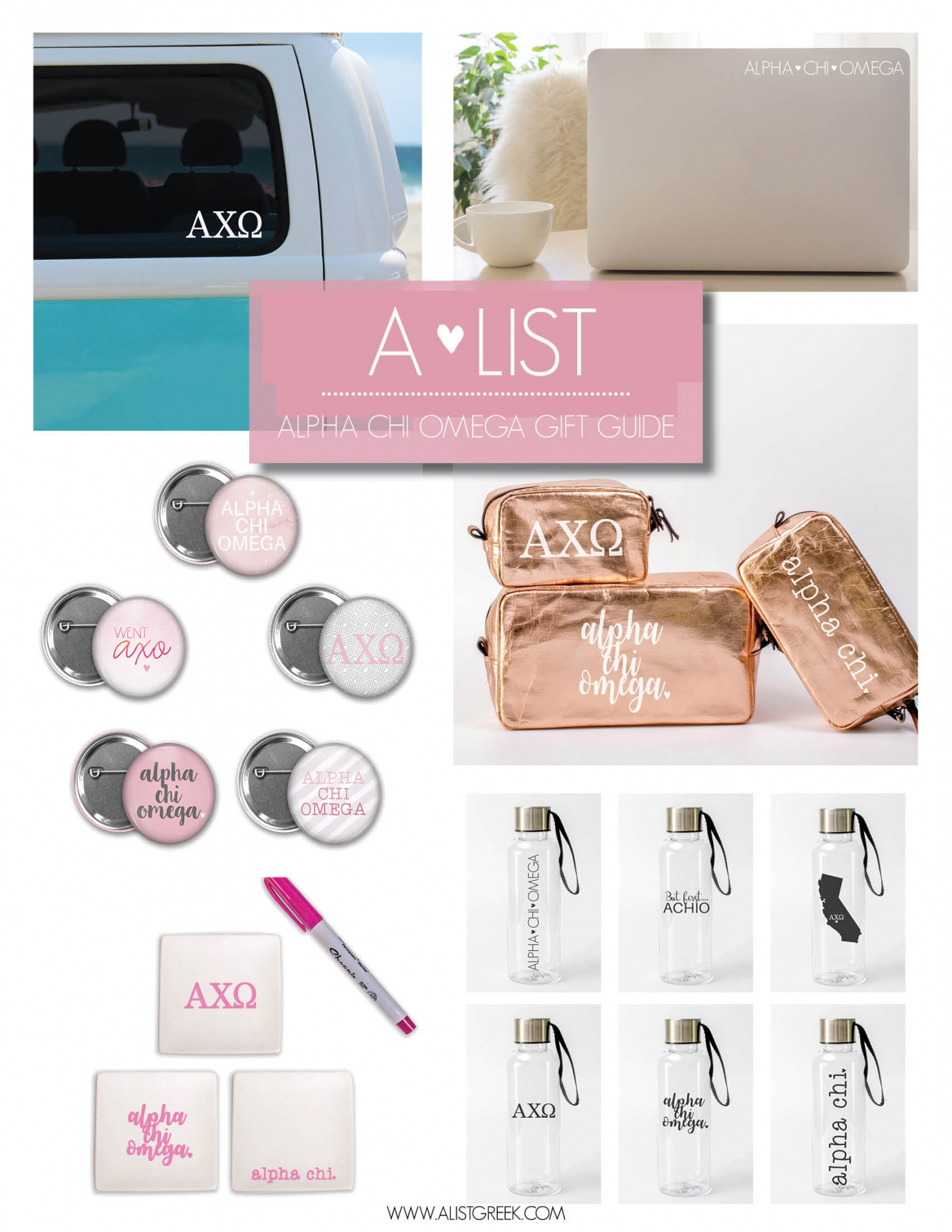 Alpha Chi Omega Gifts from www.alistgreek.com