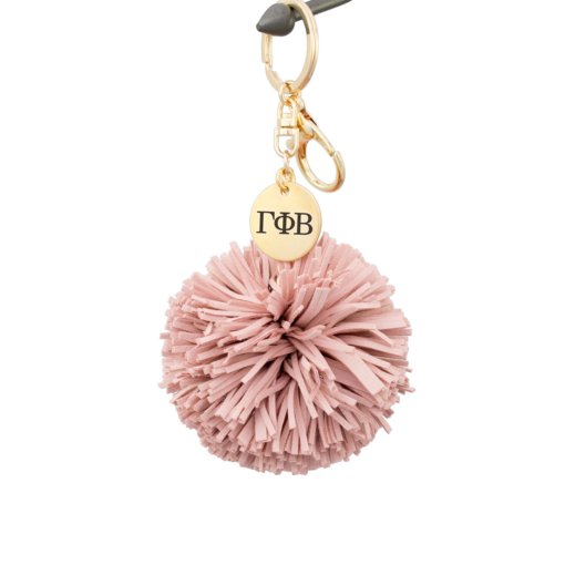 Gamma Phi Beta Pom Tassel Keychain Blush by www.alistgreek.com