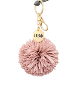 Pi Beta Phi Pom Tassel Keychain Blush by www.alistgreek.com