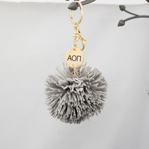 hanging-pom-tassel-light-gray-alpha-omicron-pi