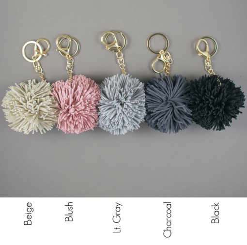 Pom Tassel Keychain Color Options