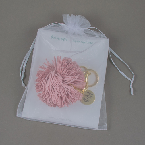 Sorority Pom Tassel Keychain Packaging