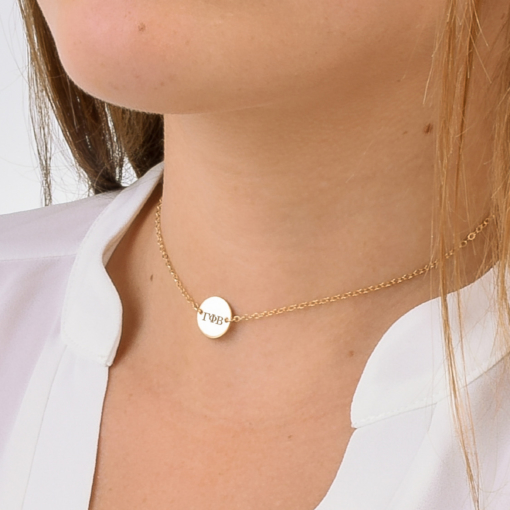 Gamma Phi Beta Small Charm Choker CloseUp