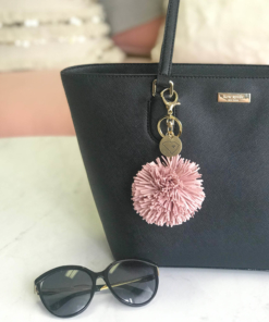 Hanging-Pom-Tassel-Keychain-Blush-Purse-Alpha-Chi-Omega-South-Carolina