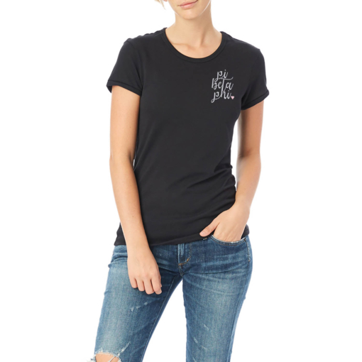 Sorority-Black-Tshirt-Embroidered-Pi-Beta-Phi-Script-White-3