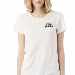 Sorority-White-Tshirt-Embroidered-Delta-Gamma-Script-Black-4