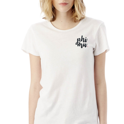 Sorority-White-Tshirt-Embroidered-Phi-Mu-Script-Black-4