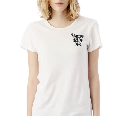 Sorority-White-Tshirt-Embroidered-Sigma-Delta-Tau-Script-Black-4
