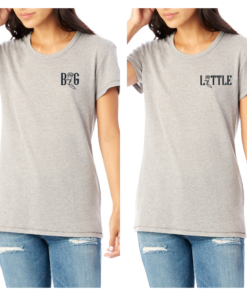 Big Little Rose Smoke Tshirt Black