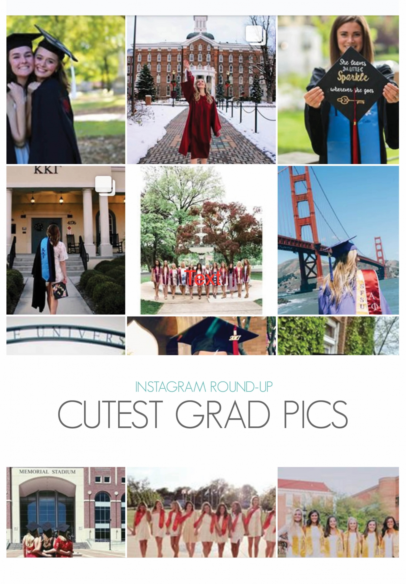 Instagram Round-Up Cutest Grad Caps