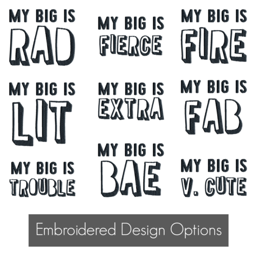 My-Big-Is-Embroidered-Design-Options