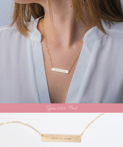 2 view bar necklace typewriter alpha chi omega