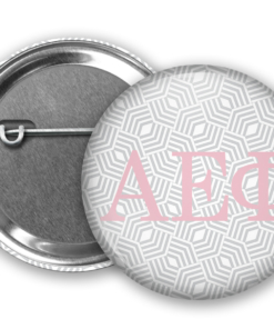 AEPhi Geometric Pin Back Button Mock Up