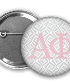 APhi Geometric Pin Back Button Mock Up