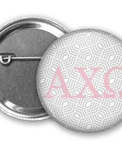 AXO Geometric Pin Back Button Mock Up