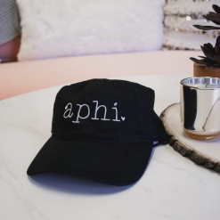 Aphi Hat Black Gray Typewriter-14
