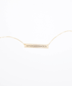 Bar-Necklace-Gold-H635-Alpha-Gamma-Delta-block-letters-2